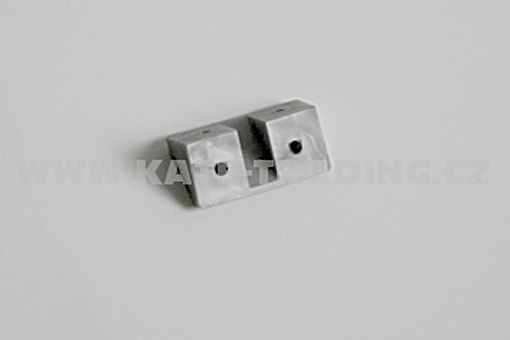 Úhelník plastový malý hliník