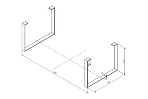 Stolová podnož Bolzano (1x pár 2ks) šíře 900mm výška 690mm