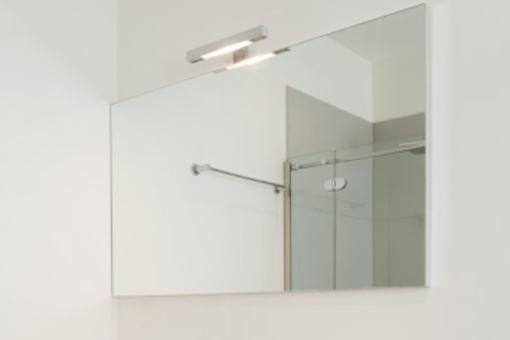LED zrcadlo 900x700 bez topné folie. Možno do rámu al., nebo Chr