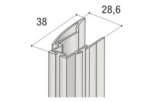 Profil S 04N -drážka ELOX 2,7m /17D1M04N27/