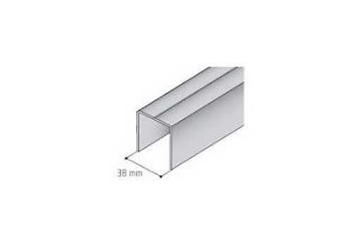 Vodící jednoprofil S- 05 horní stříbrný elox /17D1S051/ 1bm