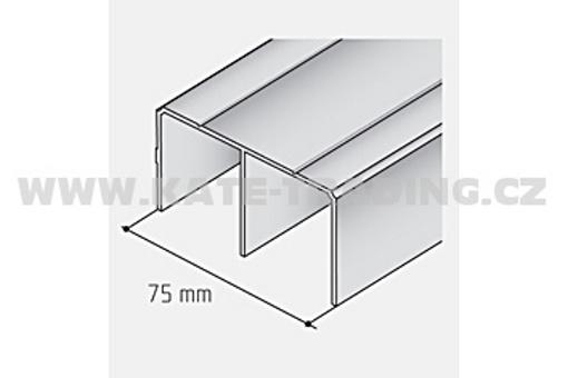 Vodící profil SALU 05 horní stříbrný elox/17D1HS05/ 1bm