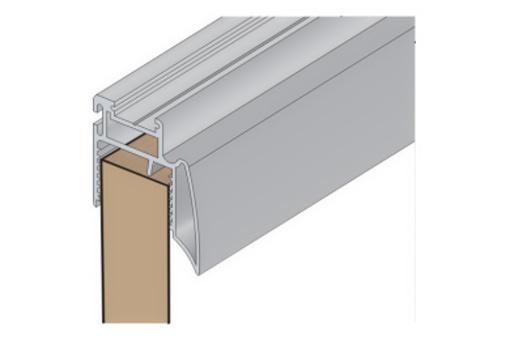 Profil Salu 11N 2,7 m stříbrný elox /17D1S11N27/+krycí profil
