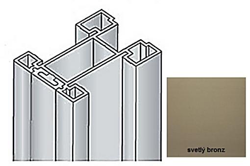 Profil boční S15 2.70m +krycí profil sv.bronz/17D3MS2227/