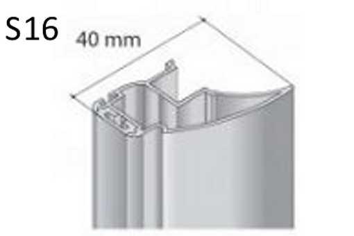 Profil boční S16 2.70m stříbrný elox+krycí profil/17D1MS1627/