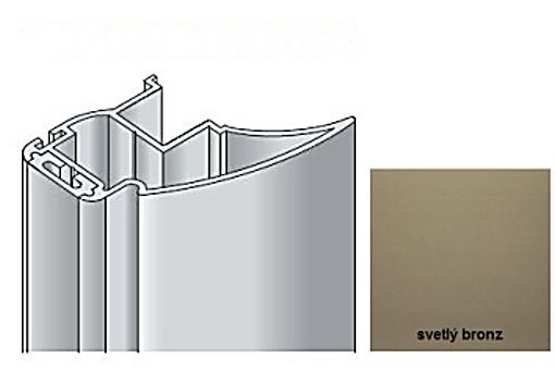 Profil boční S16 2.70m světlý bronz+krycí profil/17D3MS1627/