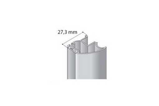 Profil boční S17 2.70m stříbrný elox bez krycího profilu /17D