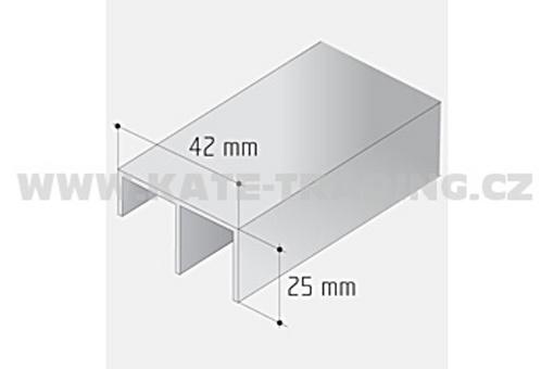 Spodní vodící profil k S30/45 šikmé dveře /19D13045/ 1bm