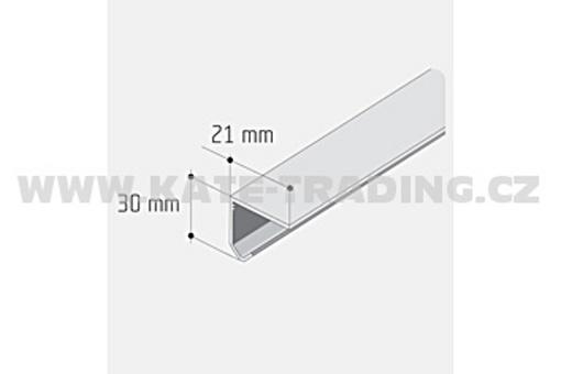 Profil S 30 jednoduchý AL surový /12D2JEDN/ délka 1m