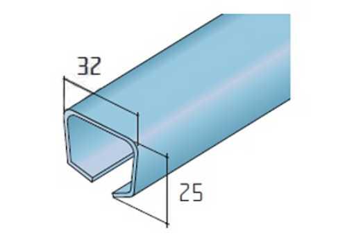 Profil S40/S80 ocelový profil cena za 1bm /14C9S408/