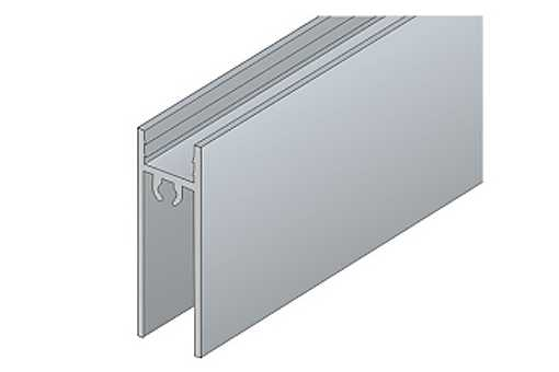 Dolní profil S 55 - 4/10 mm elox /17D1DP55/ 1bm