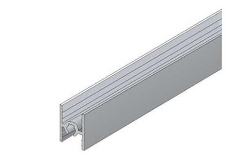 Horní a střední profil S 55 - 4/10mm elox /17D1HS55/ 1bm