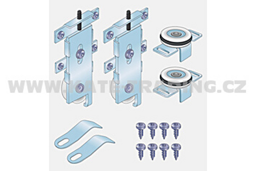 Kování na vestavěnou skříň S 60 kg /17C0S602K/