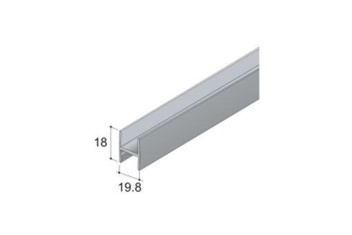 dělící profil H 18 délka: 2m , barva: 1 - stříbrný elox /17D1PRO