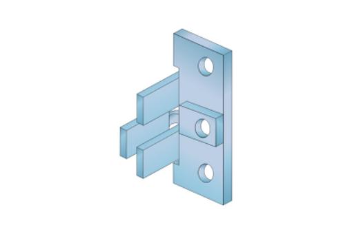 Úchyt kovový pro profil C, J kování (10CDJDUCHK)