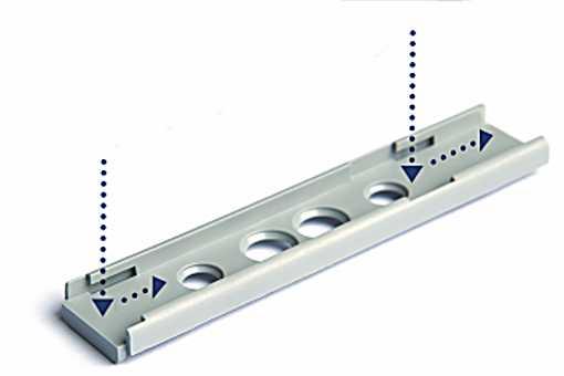 podložka pro Pusch Latch 20mm, šedý, délka: 72 mm bez lemu SI2