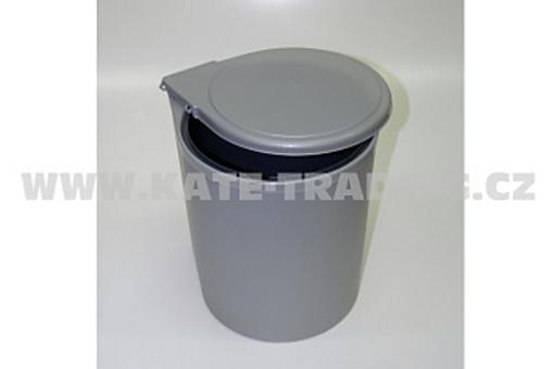 Koš odpadkový vestavný 13L šedý / bílý