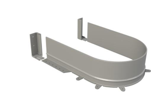 Osnova sifonu flexi šedá pro sílu dna 16mm