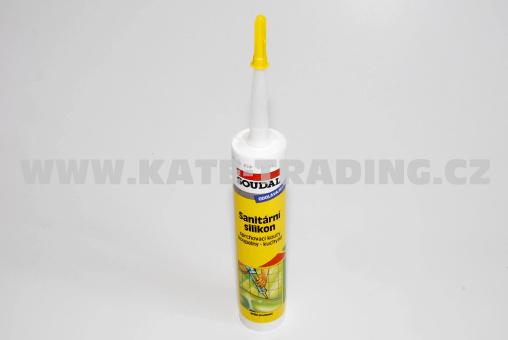 Sanitární silikon acetický Soudal bílý. 310ml