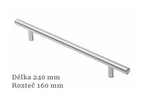 Úchytka 12327 chrom mat,rozteč 160mm
