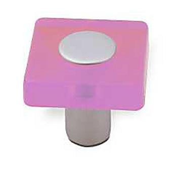 Knopka 12378 plast růžový-bílý hliník