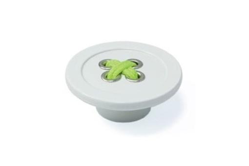 Plastová knopka SIRO Průměr: 58 mm, Výška: 23 mm, Povrch: bílý