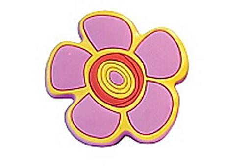 Knopka 12815 růžová kytka