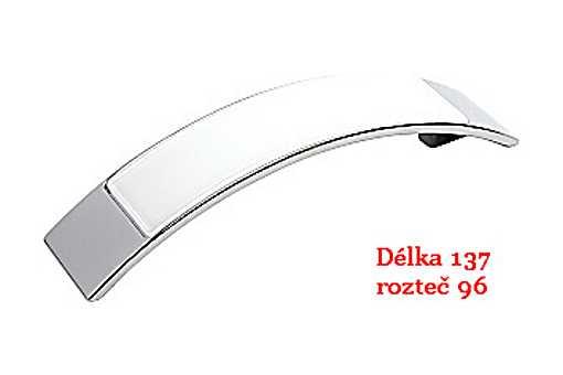 úchytka 14176 CR lesk-bílá,rozteč 96mm (A38)
