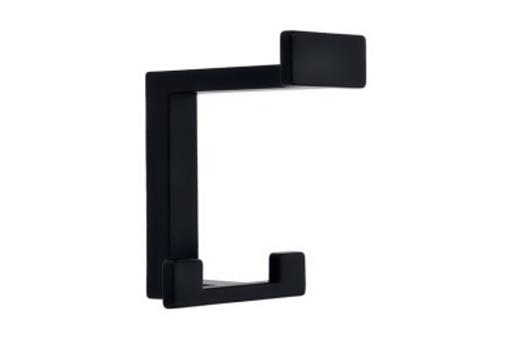 Kovový věšák SIRO Výška: 92 mm, Šířka: 70 mm, Povrch: černá mat