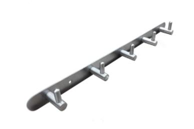 Věšáková lišta - 5 L věšáků (380x38/245) leštěný inox