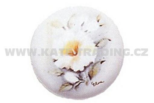 Rustikální knopka Bílá s obrázkem (R59)
