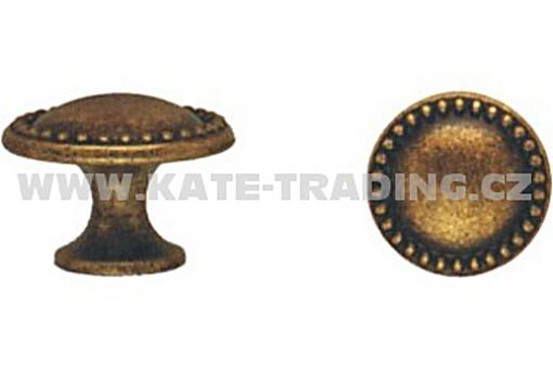 Rustikální knopka průměr 30mm (R21) stříbrná