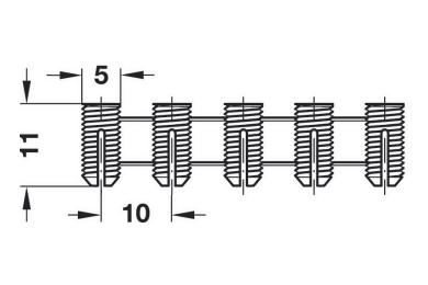 Rozevírací pouzdro PA přír.5x11mm [10ks]