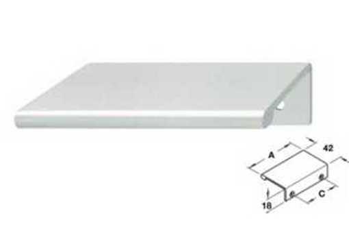 124.02.911 Hliníková úchytka 42x40mm - H001