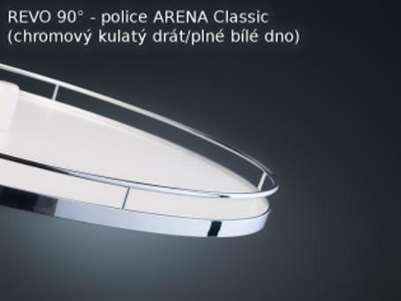 Otočný koš Revo 90 Koš Arena classic bílá/chrom Kesseböhmer