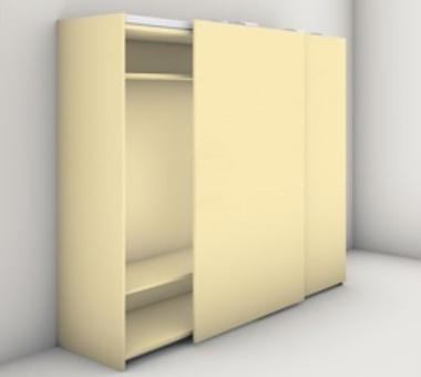 406.11.277 Finetta Flatfront M50FB 2400 - 2599 mm posuvné kování