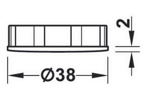 ABS vložka Häfele AXILO 2mm