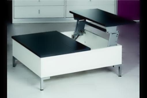 Tavoflex - kování pro výklopné stolové desky stříbrné