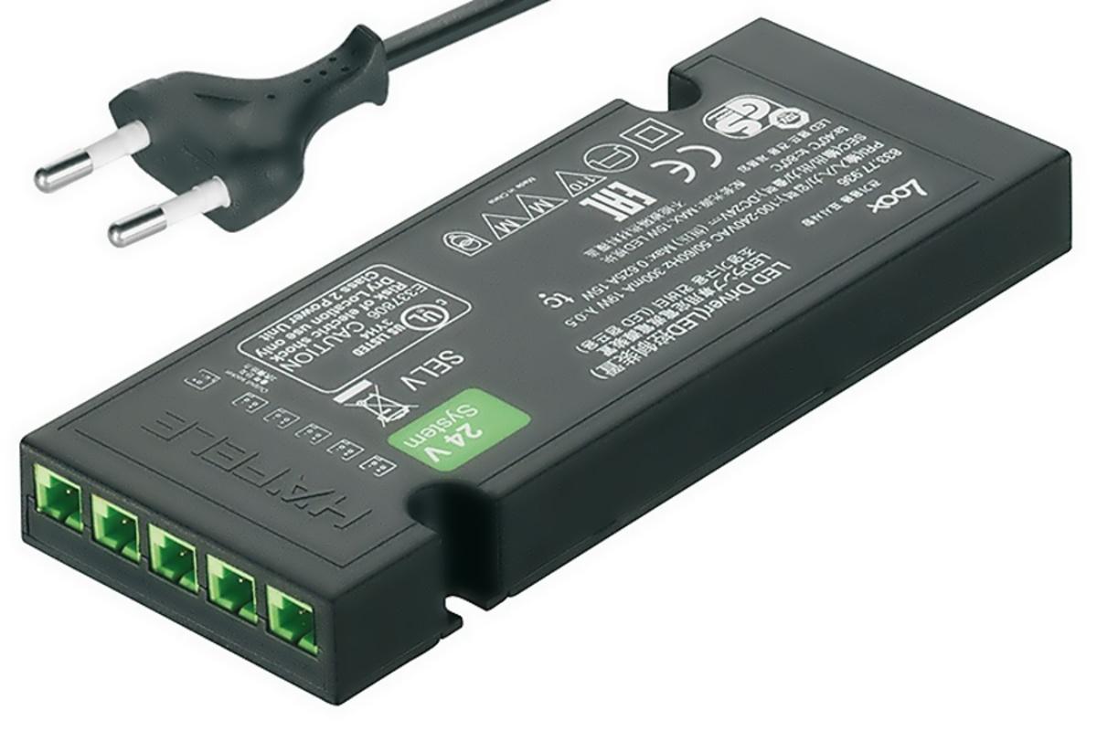 833.77.936 trafo LED DRIVER 24V 0,5-15W + EU kabel