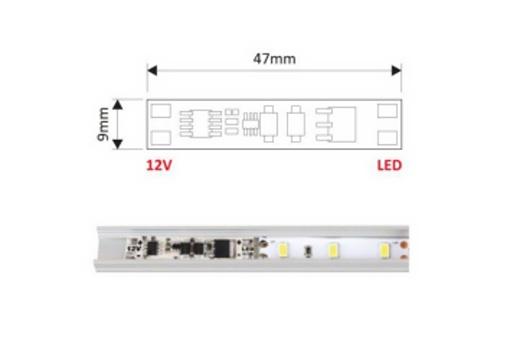 vypínač do lišty max 60W - snímá max 3cm