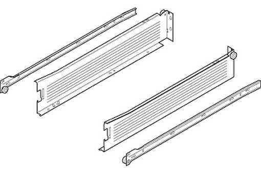 320M4500C15 Metabox šedý polovýsuv v- 86mm (1) /S/