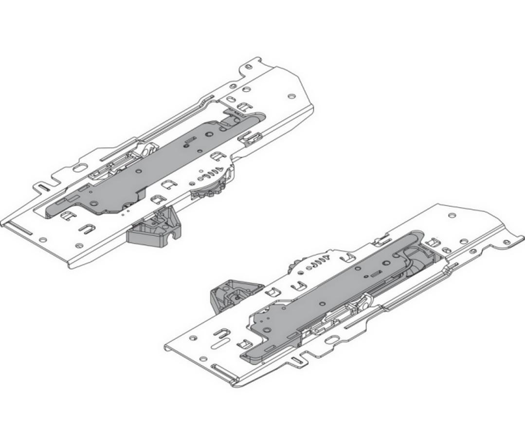 T60B3030 Sada TIP-ON BLUMOTION a unašečů ANTARO +hřídele (S0)