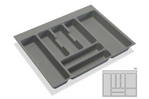 Rozdělovník - příborník plastový do zásuvky M70 636x482mm (B)