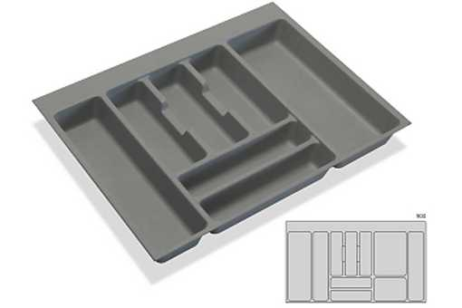 Rozdělovník -příborník plastový do zásuvky M90 836x482mm (B)
