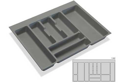 Rozdělovník - příborník plastový do zásuvky M100 936x482mm (B)