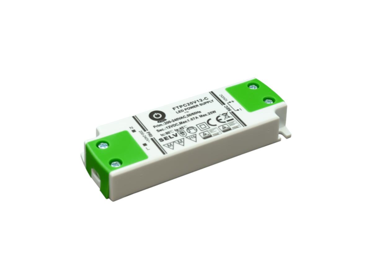 Zdroj napětí 12/20W 1,67A IP20 POS POWER typ FTPC20V12 C 12V/20W