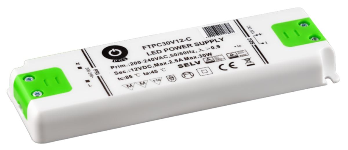 Zdroj napětí 12/30W 2,5A IP20 POS POWER typ FTPC30V12 C 12V/30W
