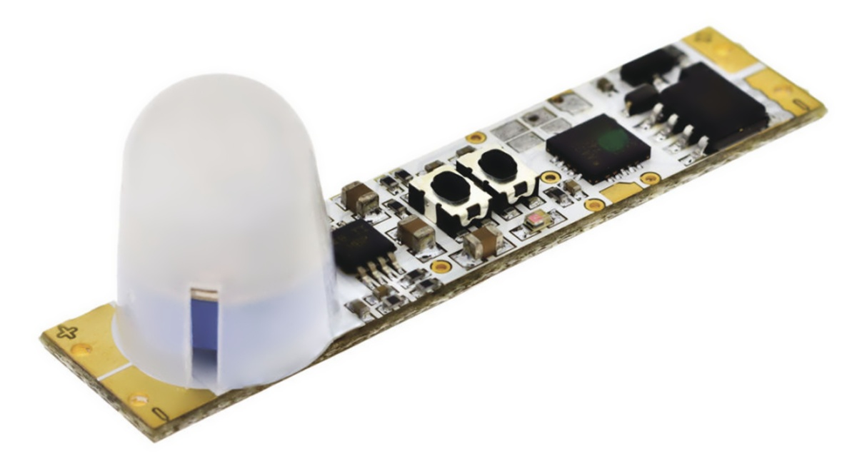 Vypínač do lišt PIR+SOUMRAK LUX 50x10x12/14mm 7,5A 12V DC (90W)