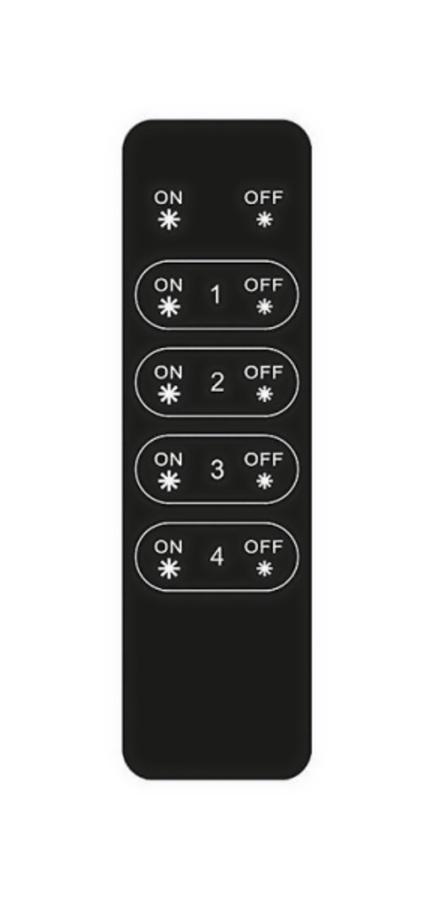 Tlačítkový čtyřzónový inteligentní dálkový ovladač