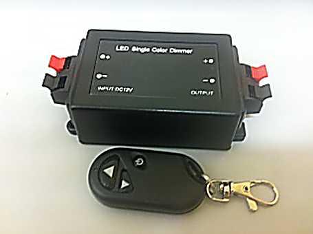 """Vypínač a stmívač LED 12V 8A 0-100% + dálk.ovl.""""Klíčenka"""" (C)"""